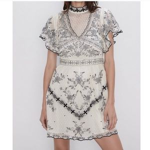 Zara NWT limited edition embroidered dress